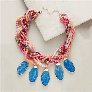 NWT Anthropologie Stone Beads Necklace